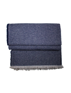 Rio Navy & White Cashmere Throw