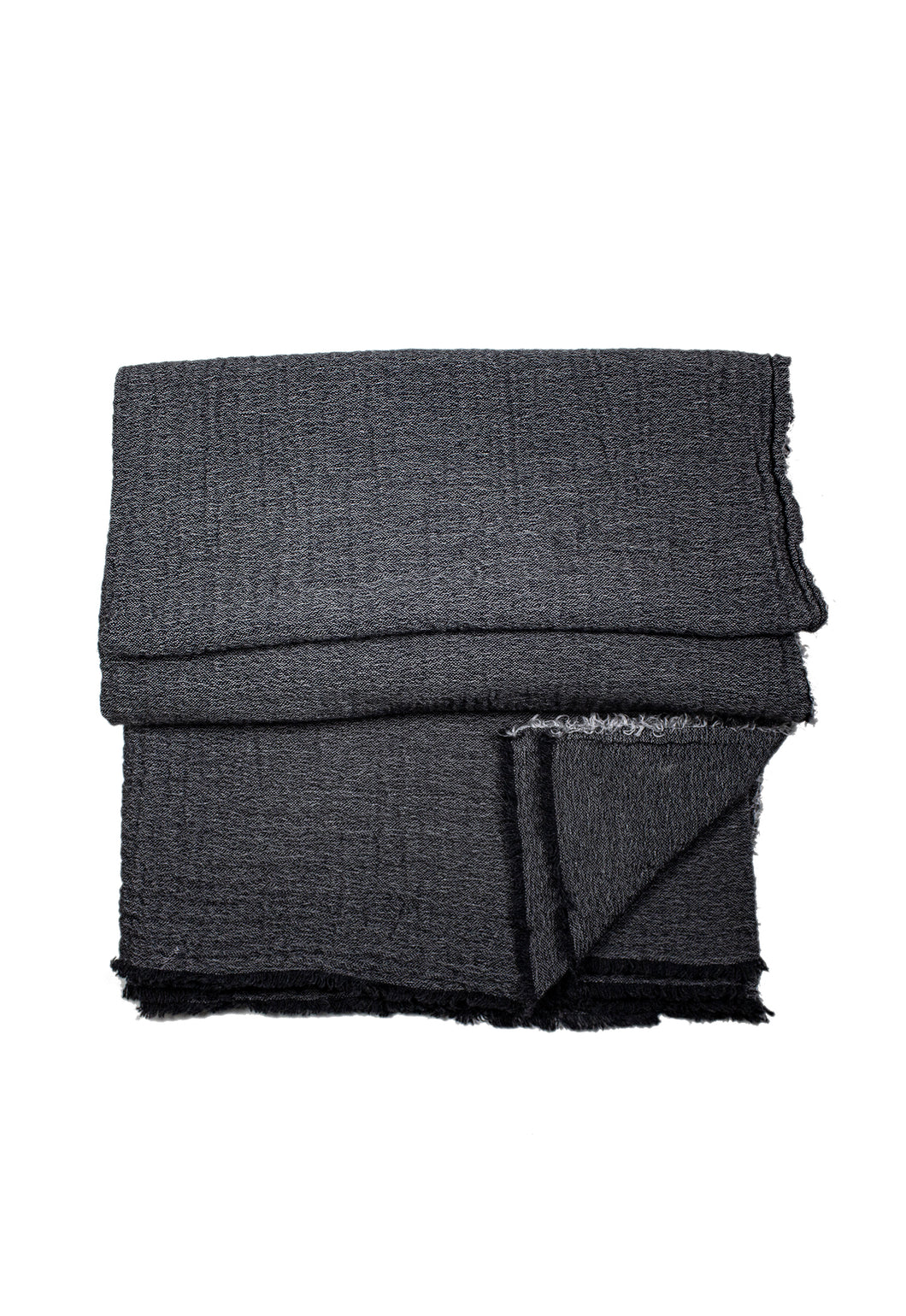 Charcoal Sutton Cashmere Throw