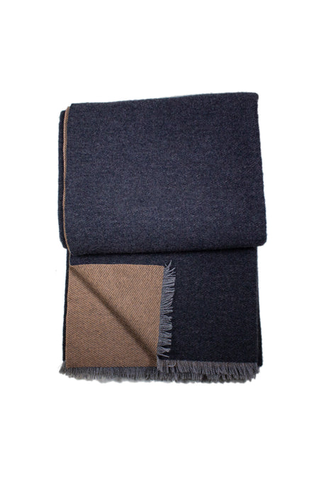Charcoal & Camel Sutton Cashmere Throw