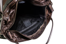 Load image into Gallery viewer, Small Brown Boen Nylon & Leather Handbag