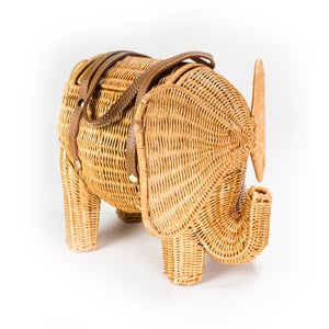 Wicker Elephant Handbag
