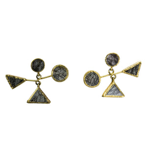 Calder Mobile 4-Crystal Small Earrings