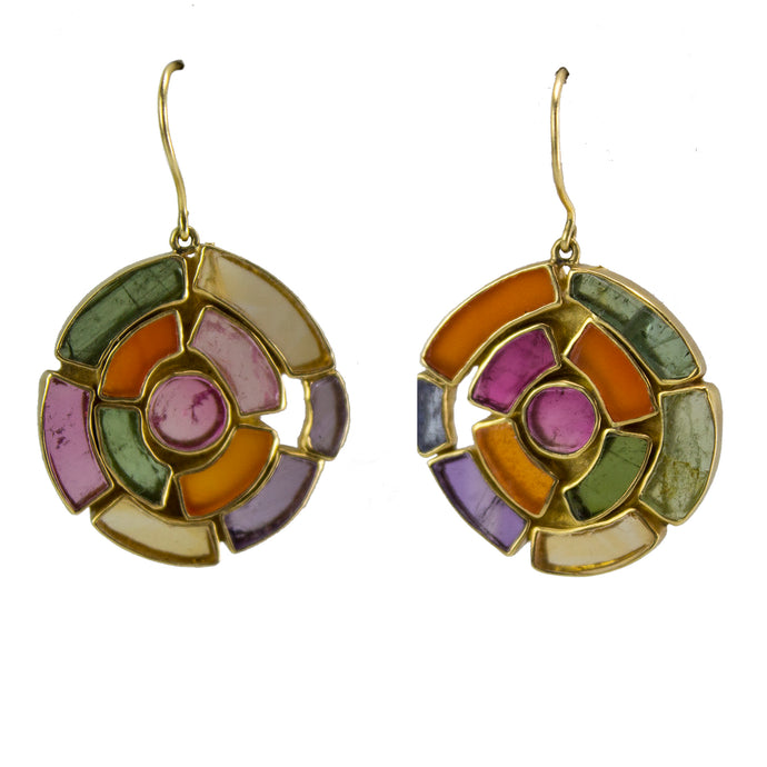 Mixed Stones Vortex Earrings