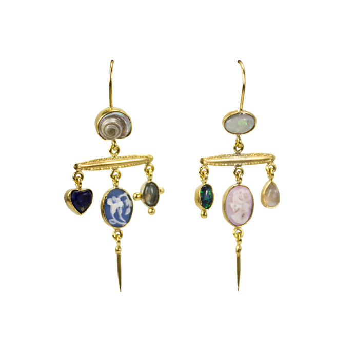Ultra Violet Victorian Pin Drops Earrings