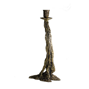 Large Polsihed Bronze Candle Holder