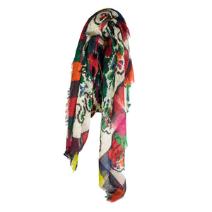 Flower Camouflage Print Scarf