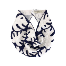 Load image into Gallery viewer, Palmer Navy & White Scarf/Necklace