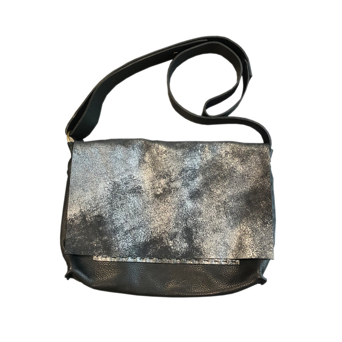 Orsay Distressed Black Messenger Handbag
