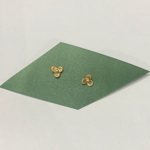 Plain Jane Gold Flower Studs