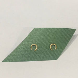 Gold Lucky Horseshoe Studs