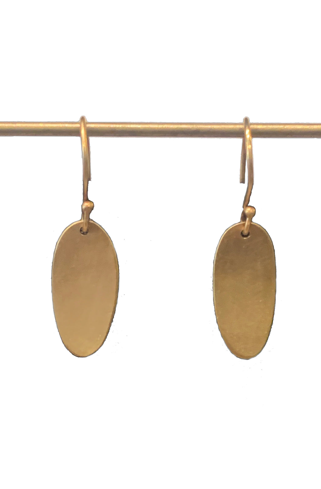 Small Gold Oval Earrings