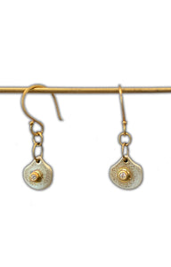 Mini Diamond Oyster Earrings