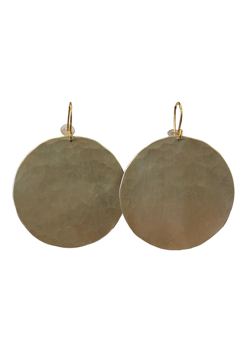 Lunar Hammered Earrings