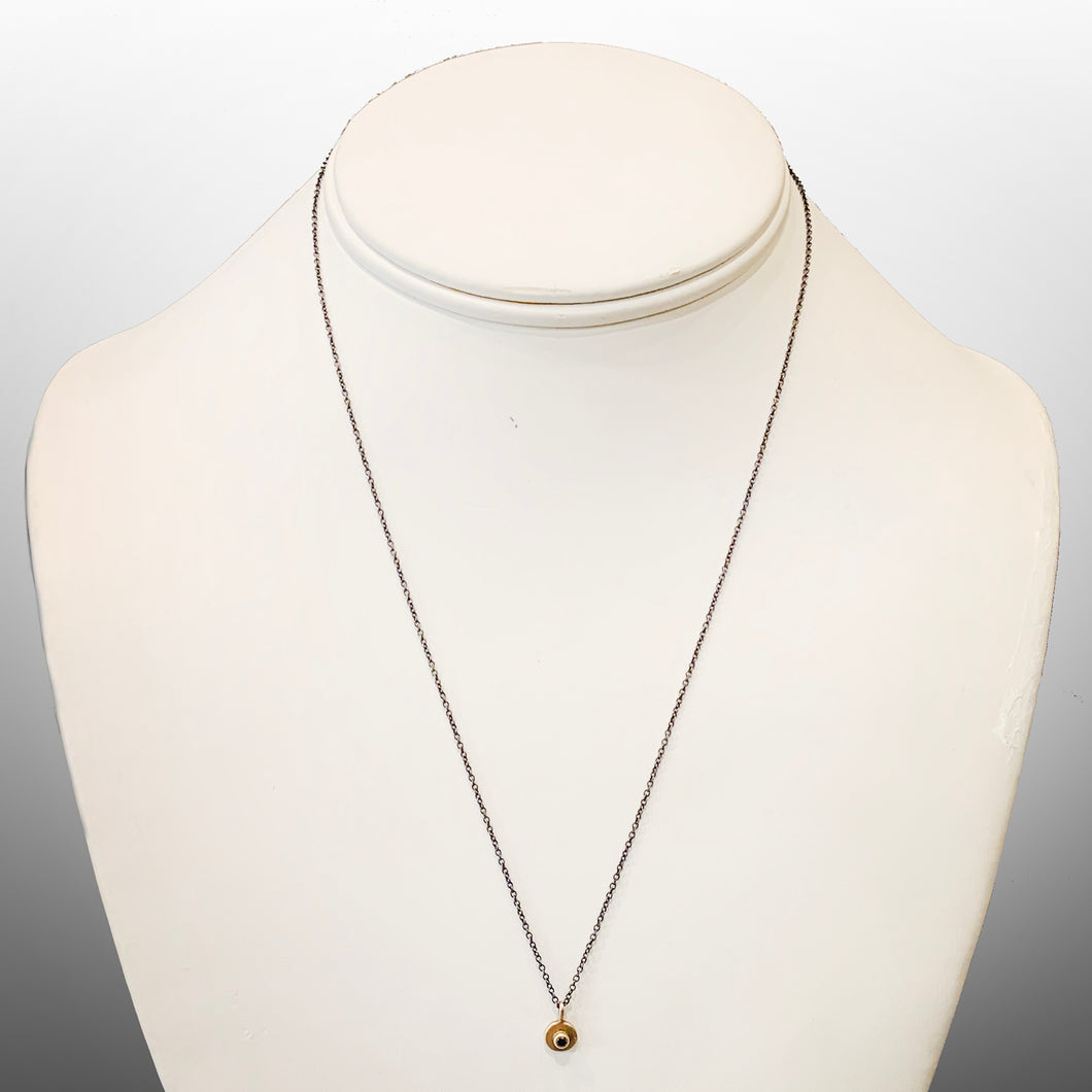 Black Diamond Dot Necklace