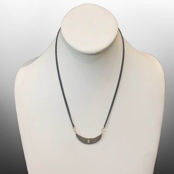 Janus Necklace with Grey Rosecut Diamond