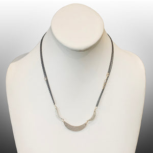 Helene Silver Crescent Necklace