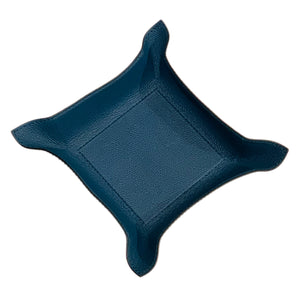 Petrol Blue Jack Leather Valet Tray