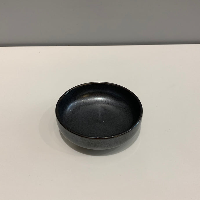 Metallic Black Japanese Dipping Bowl