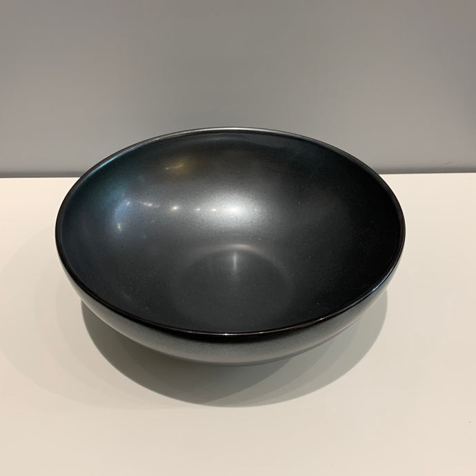 Large Metallic Black Japanese Bowl