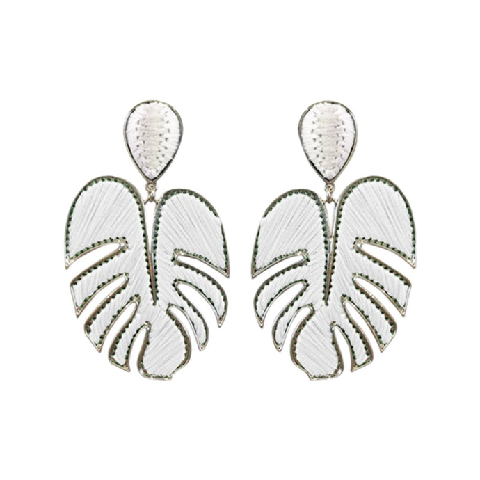 Palmer White Drop Earrings