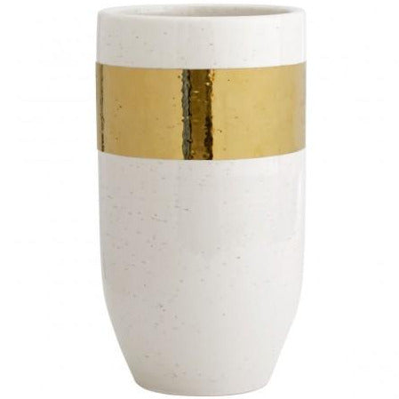 Gold Banded Ceramic Vase
