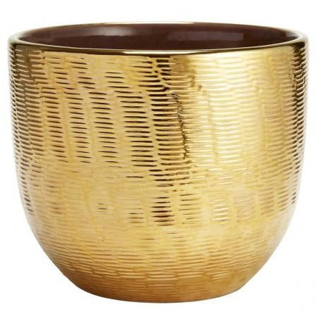 Textured Gold Large Cachepot