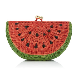 Wicker Watermelon Clutch