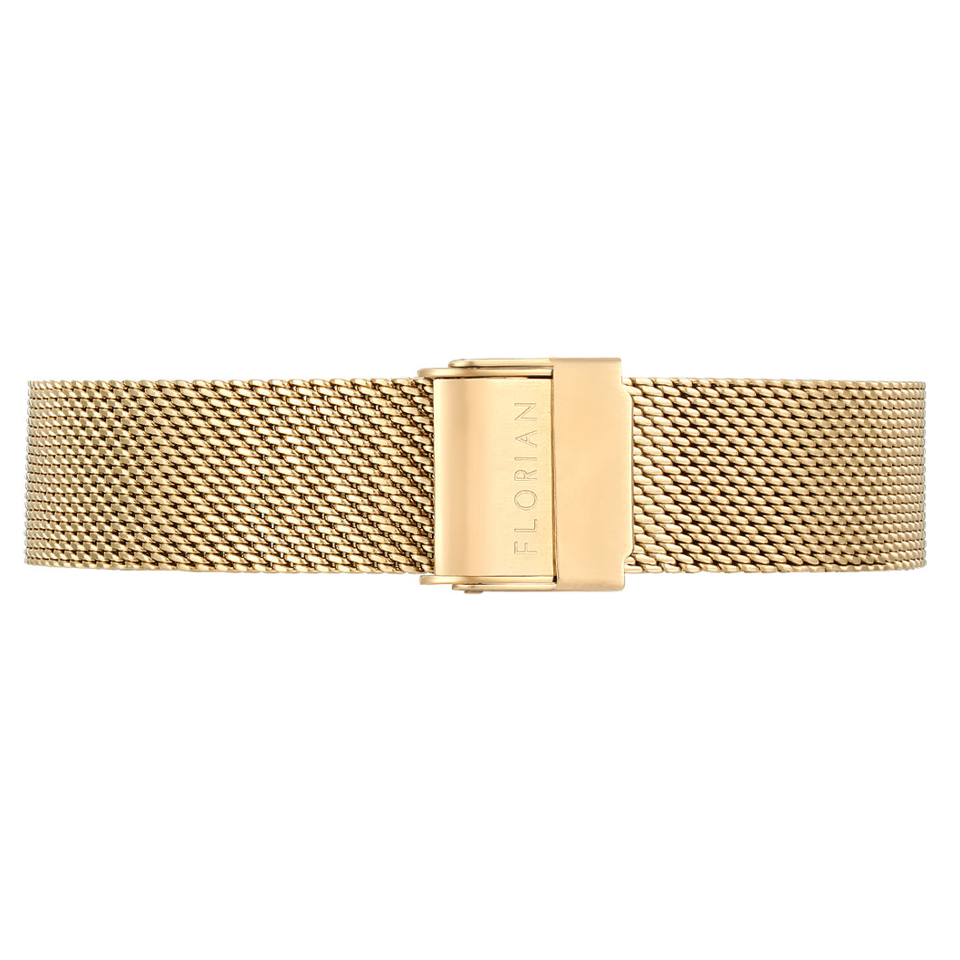 Classic Champagne Gold Mesh Band | 16mm