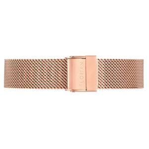 Classic Rosy Gold Mesh Band | 16mm