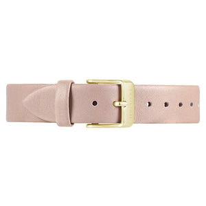 Classic Sea Coral Leather Strap | 16mm
