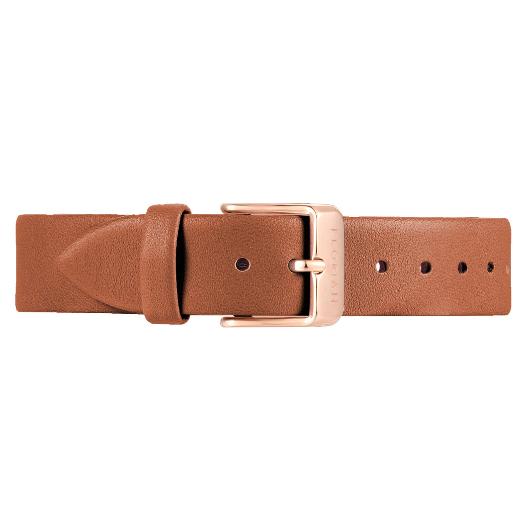 Classic Tenne Brown Leather Strap | 16mm