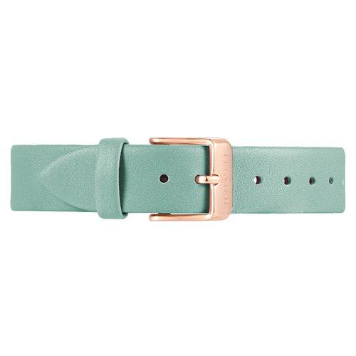 Classic Pistachio Green Leather Strap | 16mm