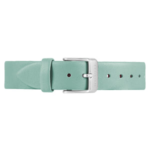 Classic Pistachio Green Leather Strap Silver Chic Buckle | 16mm
