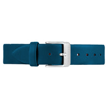 Classic Teal Blue Leather Strap | 16mm