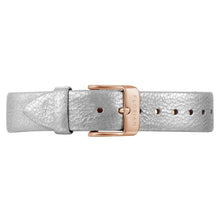 Classic Diamond White Leather Strap | 16mm
