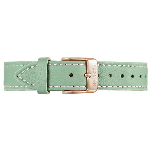Classic Palm Green Leather Strap | 16mm