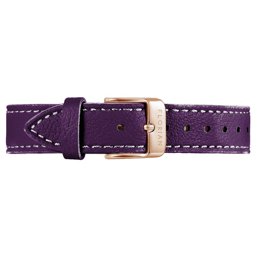 Classic Orchid Purple Leather Strap | 16mm