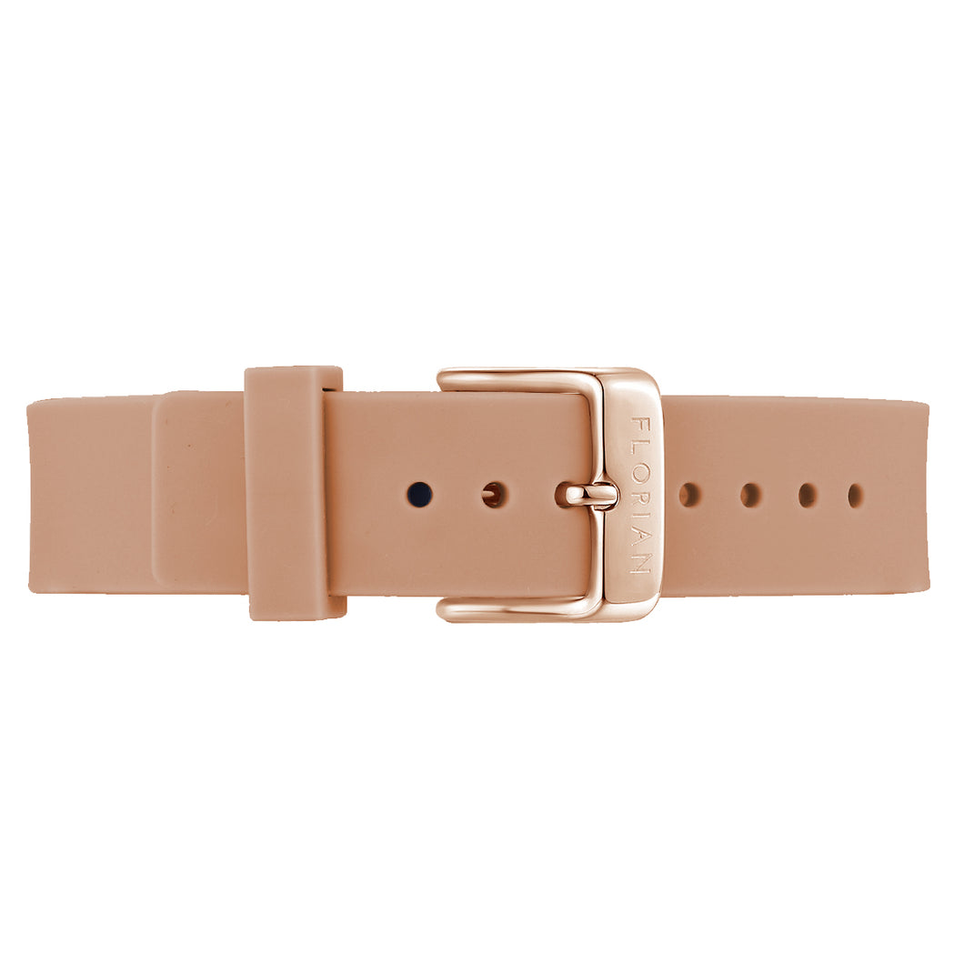 Classic Panther Pink Silicon Strap Rosy Gold Buckle | 16mm