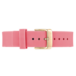 Classic Panther Pink Silicon Strap Champagne Gold Buckle | 16mm