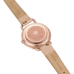 Pure Diamond Salmon Pink and Rose Gold Watch | 30mm