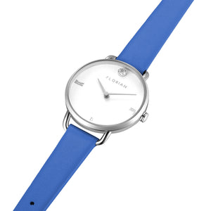 Pure Diamond Dodger Blue and Silver Watch | 30mm