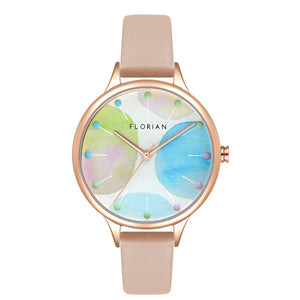 Happy Lady Lollipop Dial Salmon Pink and Rose Gold Watch | 34mm