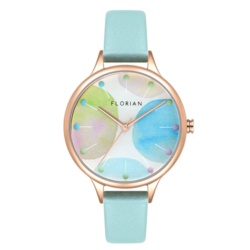 Happy Lady Lollipop Dial Pistachio Green and Rose Gold Watch | 34mm