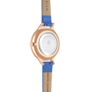 Happy Lady La Mer Dial Dodger Blue and Rose Gold Watch | 34mm