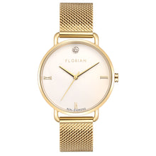 Pure Diamond Champagne Gold Mesh Watch | 36mm