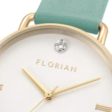 Pure Diamond Pistachio Green and Champagne Gold Watch | 36mm