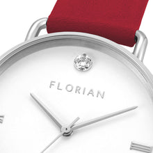 Pure Diamond Cherry Red and Silver Watch | 36mm