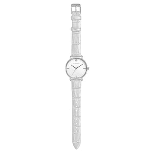 Pure Diamond Silver Chic Pearl White Strap Watch | 36mm
