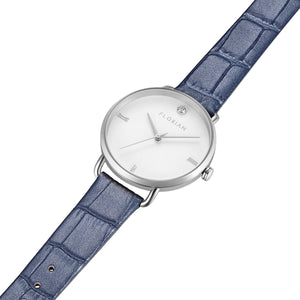 Pure Diamond Berry Blue and Silver Watch | 36mm