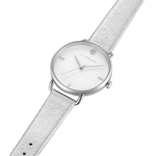 Pure Diamond Silver Chic Diamond White Strap Watch | 36mm